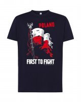 "Koszulka granatowa- ""Poland First to fight"""